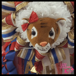 female single mum mascot tiger