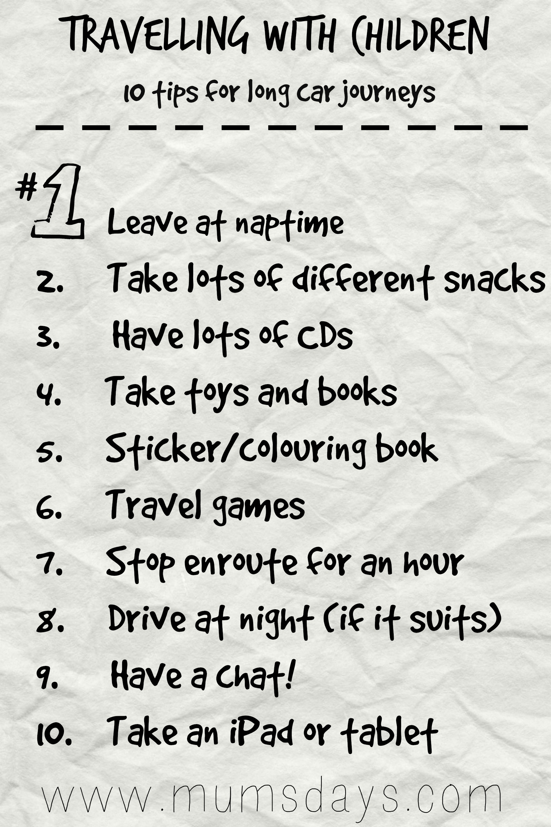 Travelling with Children! 11 tips for long car trips Mums