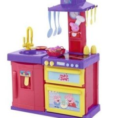 Pig Kitchen Chairs Wood Peppa Electronic Cook And Play