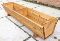 130cm Large Wooden Trough Planter