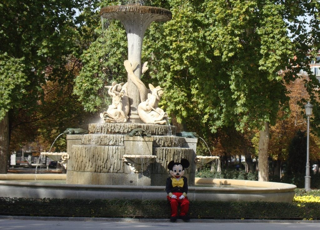Mickey in Retir Park, Madrid