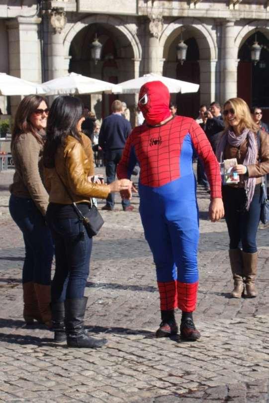 Spiderman in Madrid