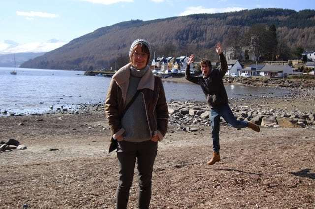 Photobomb in Scotland