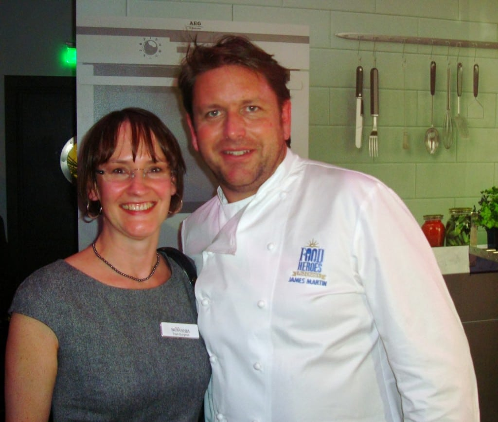 P&O launch Britannia, James Martin