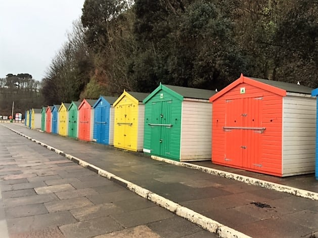 Beach huts Dawlish