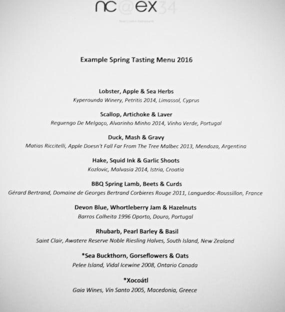 Spring menu NC@EX34