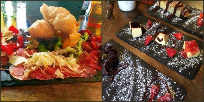 Osteria, Caernarfon, starter and dessert