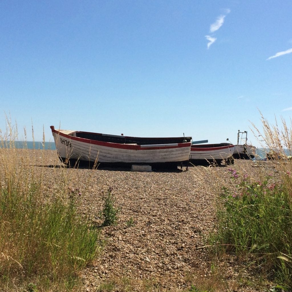 Boats on beach Aldeburgh Suffolk