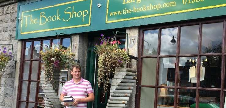 exterior the book shop Wigtown