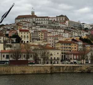 Coimbra view from river
