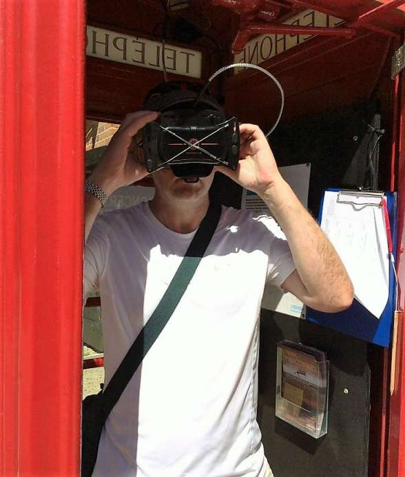 Concert in a phone box Snape Maltings