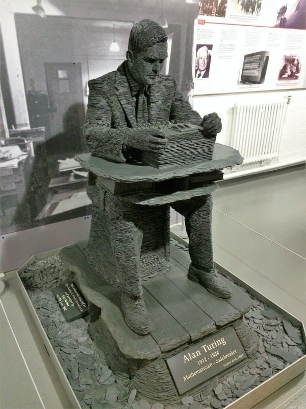 Bletchley Park Alan Turing slate statue