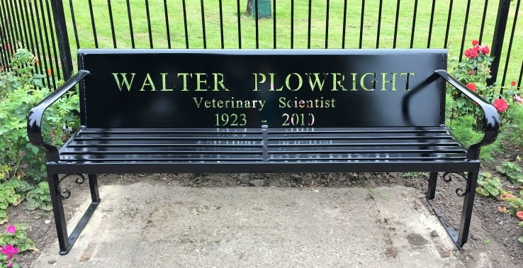 Walter Plowright bench, Holbeach