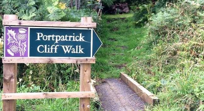 Portpatrick cliff walk