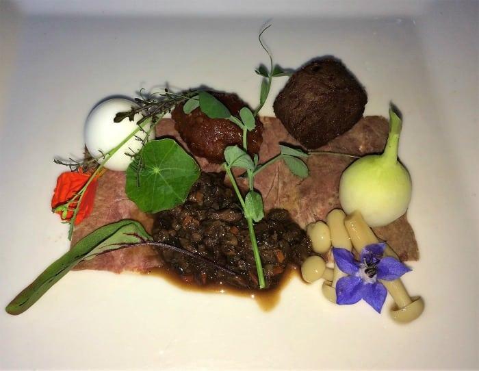 Scotch beef starter, Blackaddie hotel