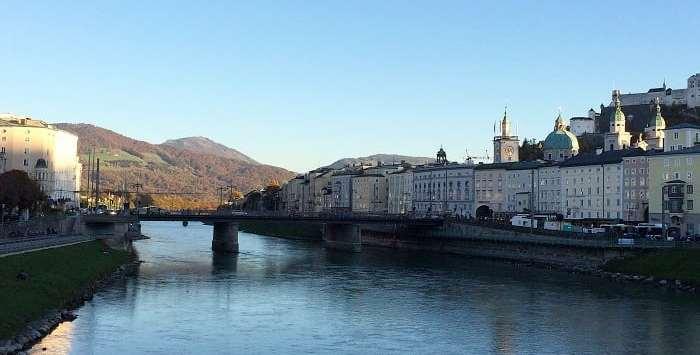 River Salzach in Salzburg