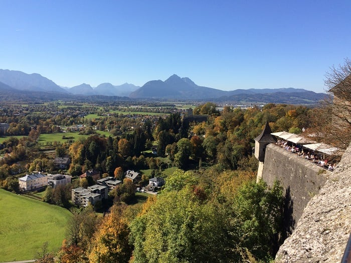 View of Salzburg from fortress
