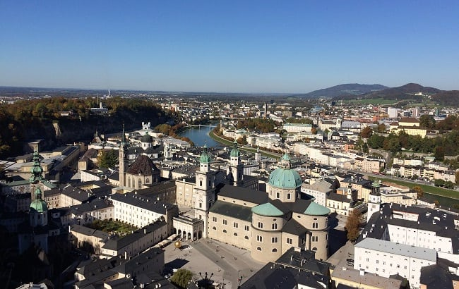 Views of the city of Salzburg