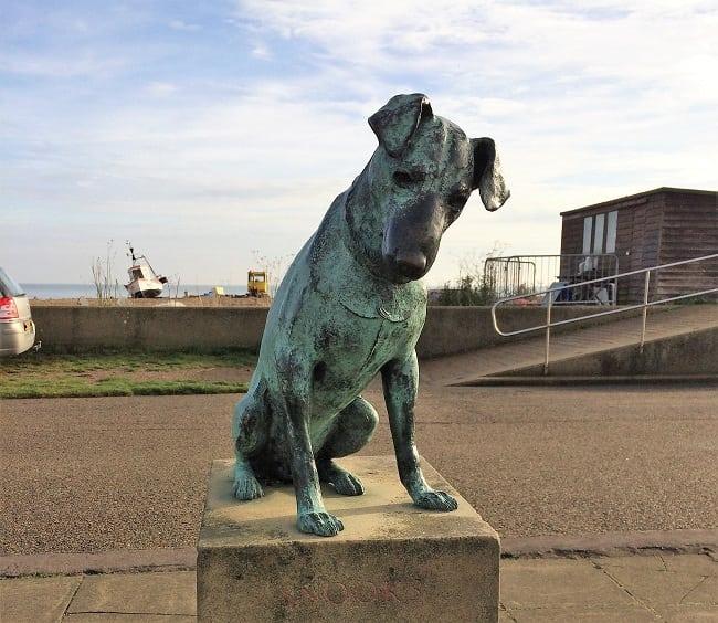 Statue of Snooks in Aldeburgh