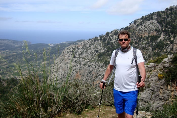 Walker on Barranc de Biniaraix Mallorca
