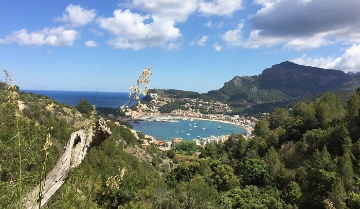 view of Port de Soller in Mallorca