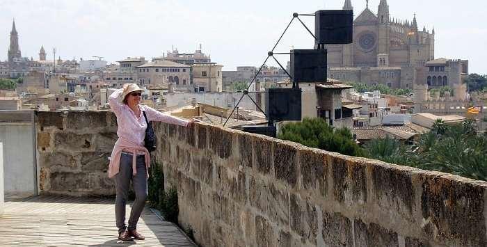 ON the rooftops of Palma Mallorca