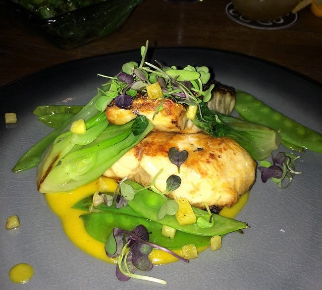 Sea bass at Loa restaurant, Palma
