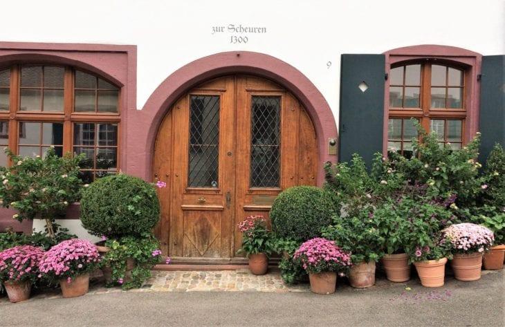 Door and flowers in Basel