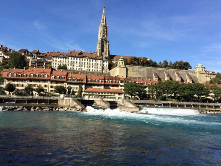 Bern viewed from river Aare