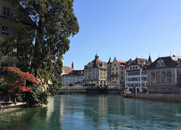 Old town in Lucerne, Switzerland