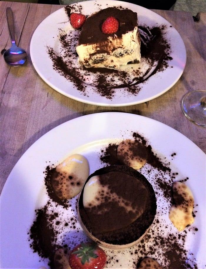 Desserts at Il Paradiso del Cibo, York
