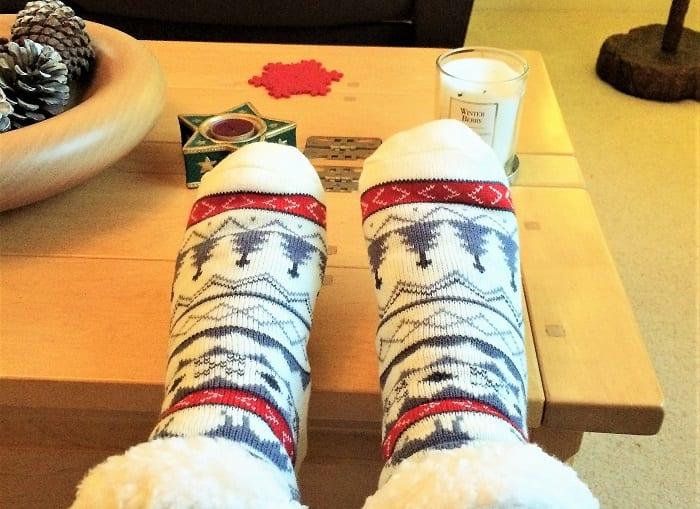 christmas slipper socks