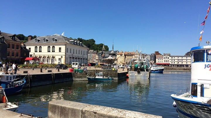 Harbour in Honfleur, Normandy, France