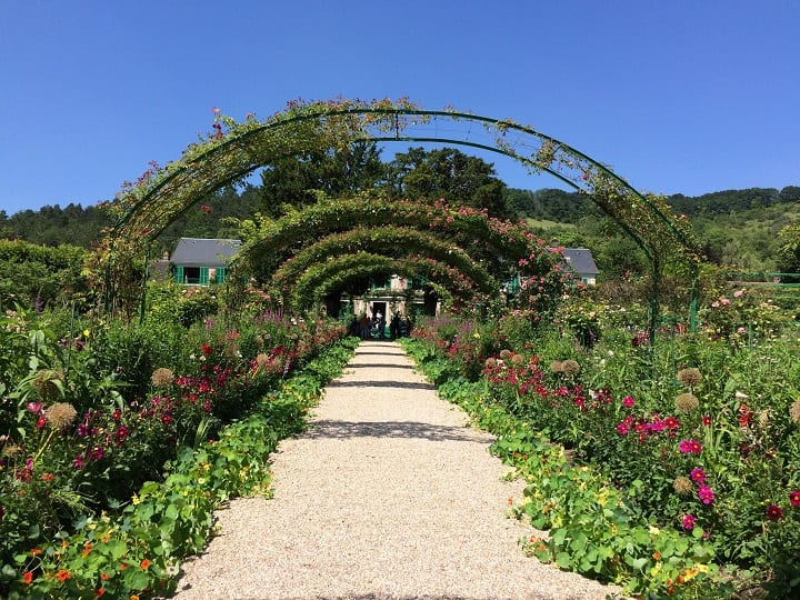 Arches in Monet's garden