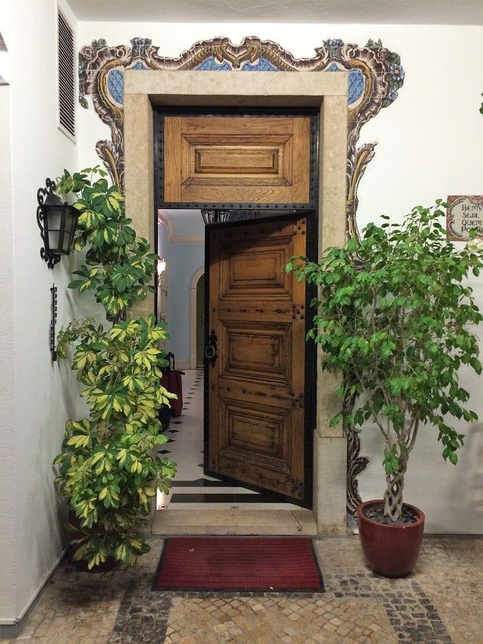 Front entrance of Pergola House, Cascais