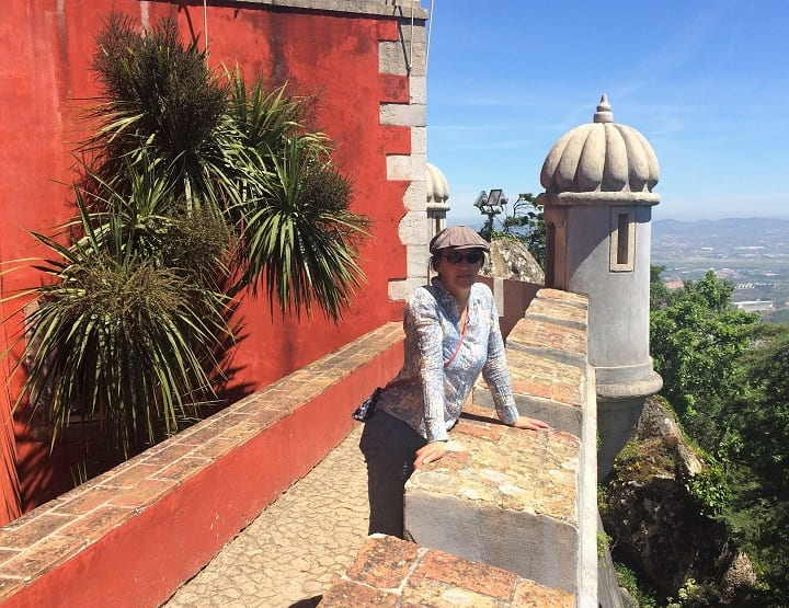 Walking the walls of Pena Palace, Sintra