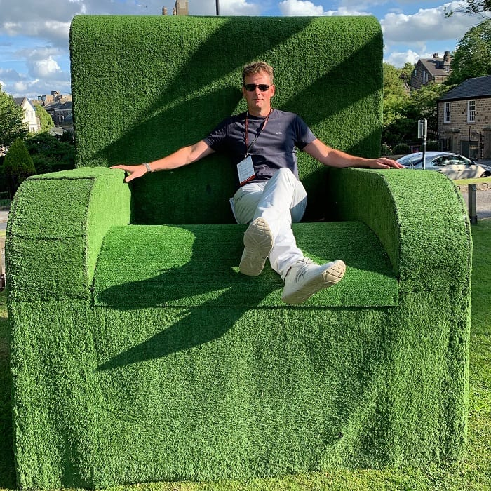 Big chair for Theakston Crime Writing festival