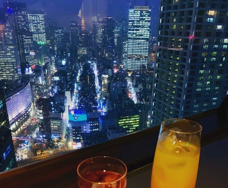 Cocktails and rain in Tokyo