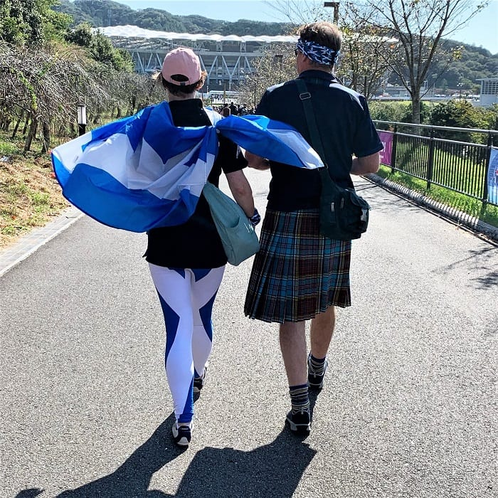 Scotland supporters in Japan