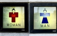 Toilet signs in Japan