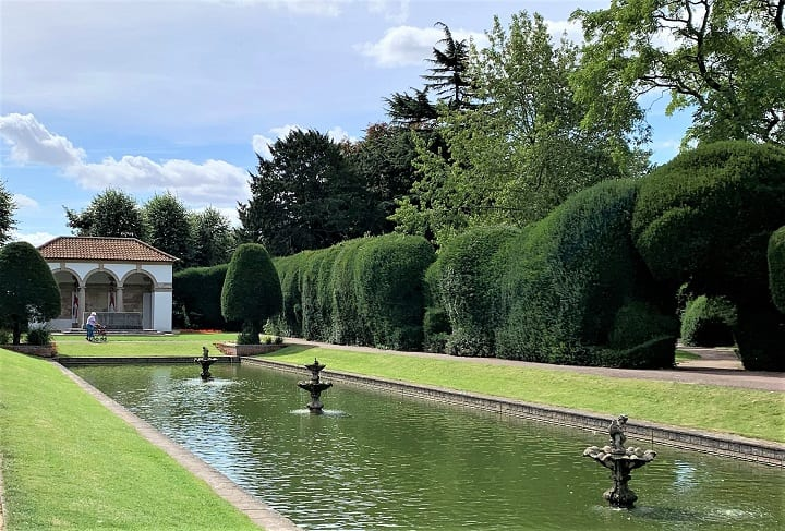 Ornamental lake in Ayscoughfee Hall gardens