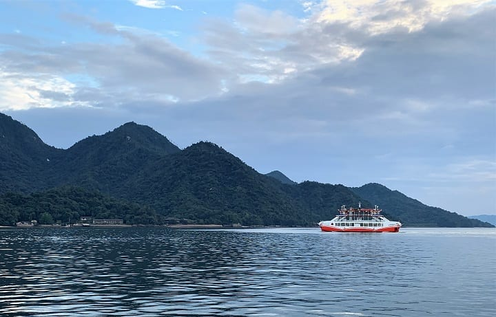 Crossing to Miyajima island