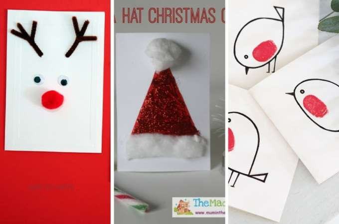 christmas cards kids can make mums lists life hacks for mothers easy preschool christmas cards