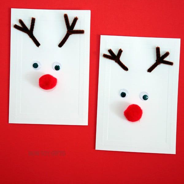 12 easy homemade christmas card ideas for kids  mums make