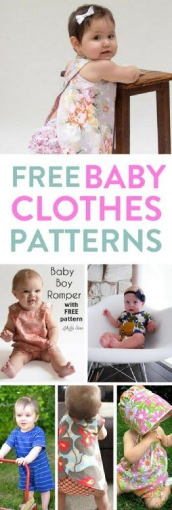 This list of free baby clothes patterns for newborns, both boys and girls are gorgeous but simple to make. There's patterns for sewing, knitting, crochet and more. Take a peak and start making clothes for your baby now! #FreeBabyClothesPatterns
