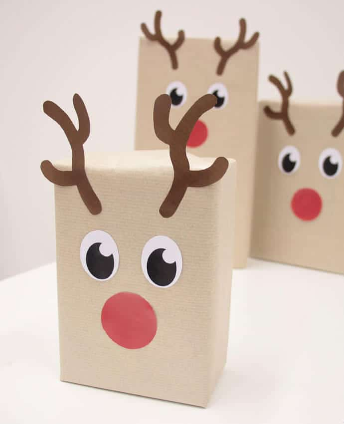Party Delights Reindeer gift wrap Christmas