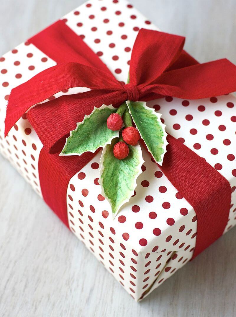 Urban Comfort Holly gift topper