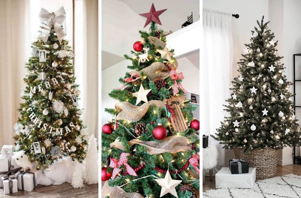 Here's my roundup of some of the loveliest Christmas Tree decoration ideas and themes for this year. #Christmas #ChristmasDecor #Christmastree #Christmasdecorationideas #Xmas #Xmastreedecorations #Xmasdecorations #Xmasornaments