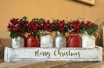 Mason Jar Christmas Decoration Ideas