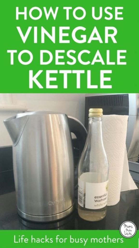 A simple cleaning hack for how to naturally descale a kettle of limescale, using white wine vinegar. This descaling tip is so easy and takes minutes, so you can do it every week without it taking up loads of your time. #descaling #limescale #vinegar #Cleaning #CleaningTips #CleaningTricks #CleaningHacks #HouseholdHacks #Greenclean #Greencleaning #Greencleaners #Cleaningtips #CleaningHacks #Cleaning #housework #houseworktips #vinegar